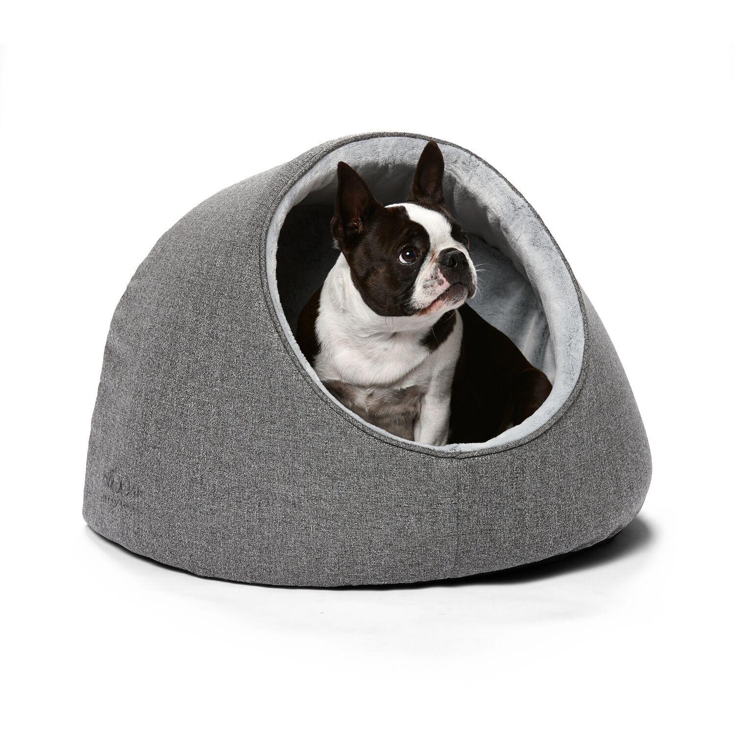 Picture of: The Best Dog Cave Bed Igloo Oslo Hooded Dog Bed Naturalpetshop